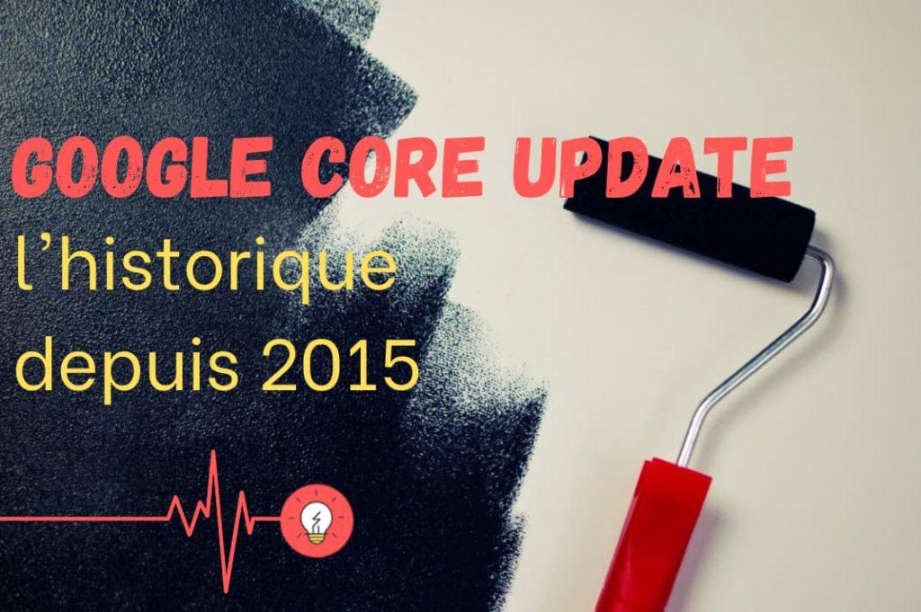 Google Core Update : l'historique complet depuis 2015